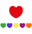 heart imulti-colored cons vector image