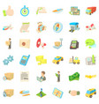 logistic icons set cartoon style vector image vector image