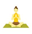 lotus prayer pose yoga meditation vector image vector image