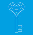 love key icon outline style vector image vector image
