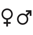 male and female icon design isolated vector image