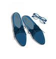 Male shoes top view vector image
