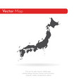 map japan isolated black on vector image vector image