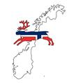 Norwegian reindeer vector image vector image