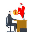 online santa claus congratulations christmas in vector image