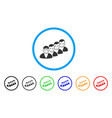 people queue rounded icon vector image
