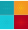 Pop art background set vector image