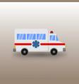 public ambulance car transportation vector image vector image