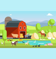 ranch house farm building and agricultural vector image