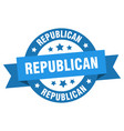 republican ribbon republican round blue sign vector image vector image