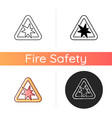risk explosion icon vector image