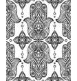 seamless black pattern with hamsa boho buddhas vector image vector image