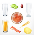 set of beer and snack vector image