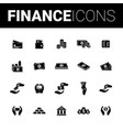 set of financial icons vector image