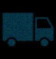 shipment van mosaic icon of halftone bubbles vector image vector image