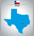 simple outline map texas with flag vector image