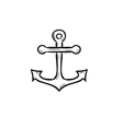 sketch of the anchor vector image vector image