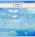 sky watercolor background vector image
