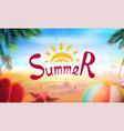stock realistic beach summer vector image vector image