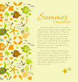 summer background with text about vacation vector image vector image