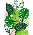 summer tropical design template design vector image vector image