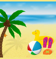 Summer vacation banner design palm tree