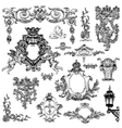 vintage sketch calligraphic drawing of heraldic vector image vector image