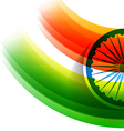 wave style indian flag vector image vector image