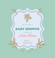 wheat baby shower tamplate vector image