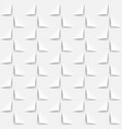 white background 3d paper style seamless pattern vector image vector image