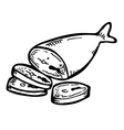 fish meat vector image