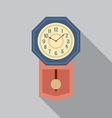 Grandfather Pendulum Clock vector image