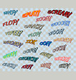 comic sound effects vector image