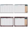 vector calendar template