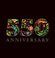 550 anniversary folk logo vector image vector image