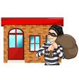 A man robbing the building vector image vector image