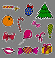 a set of fashion labels badges for the new year vector image