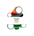 Abstract Christmas sale banner design with blank vector image vector image