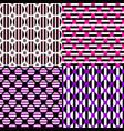 abstract seamless pattern set - circle design vector image vector image