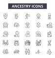 ancestry line icons signs set linear