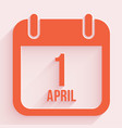 april fools day 1 april calendar background vector image