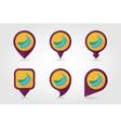 Banana mapping pins icons vector image vector image