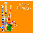 Birthday background with striped party hats vector image vector image