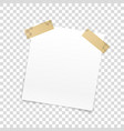 blank paper frame isolated on transparent vector image vector image