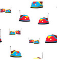 bumper car seamless pattern amusement park vector image vector image