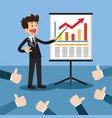 business project presentation vector image vector image