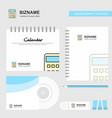 calculator logo calendar template cd cover diary vector image vector image