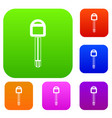 car key set collection vector image vector image