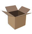 Cardboard box vector image