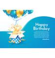 celebrating 22 nd years birthday vector image vector image